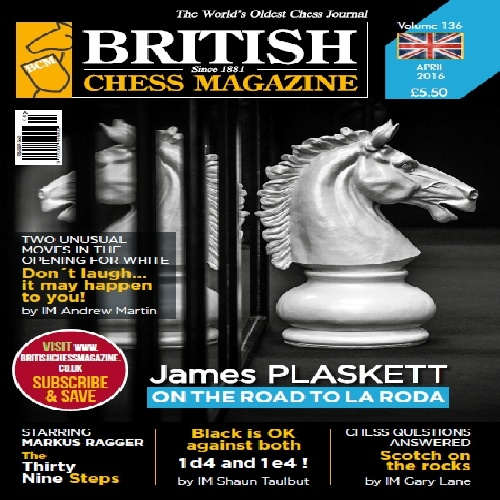 مجله معتبر شطرنج بریتانیا British chess magazine-2016-April